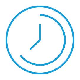 Blue clock graphic