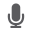 Tiny gray microphone icon