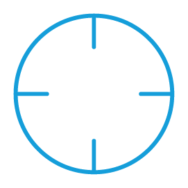 Blue crosshair graphic